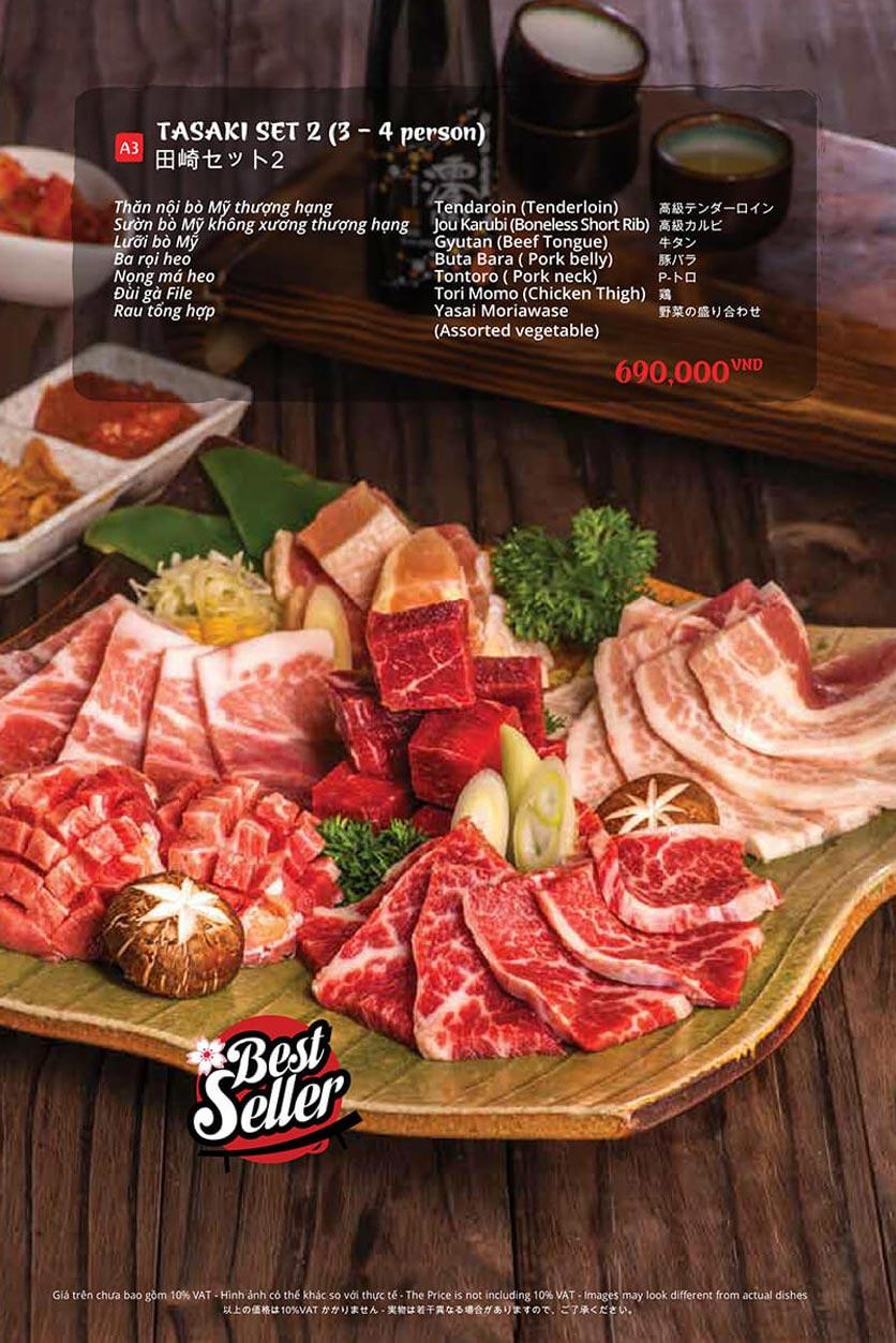 Menu Tasaki BBQ - Bùi Thị Xuân 31