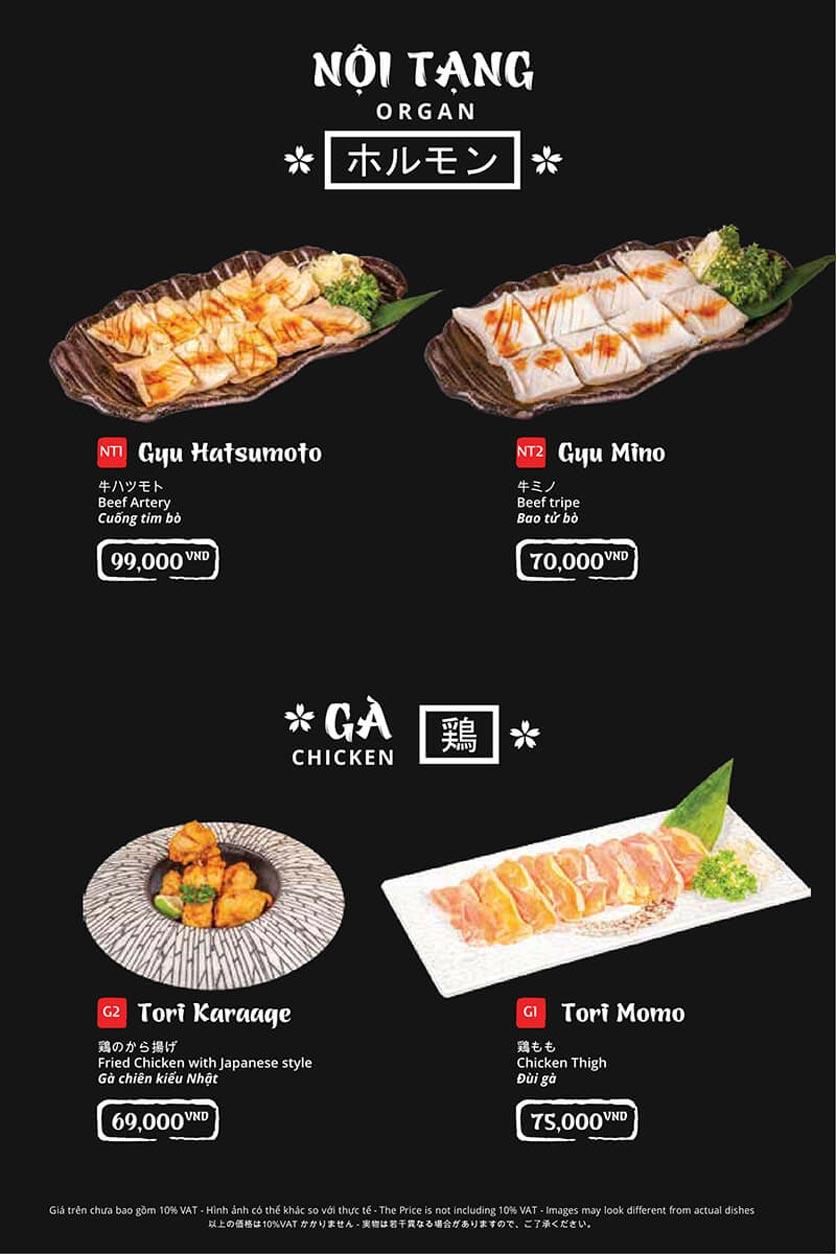 Menu Tasaki BBQ - Trần Thái Tông 32