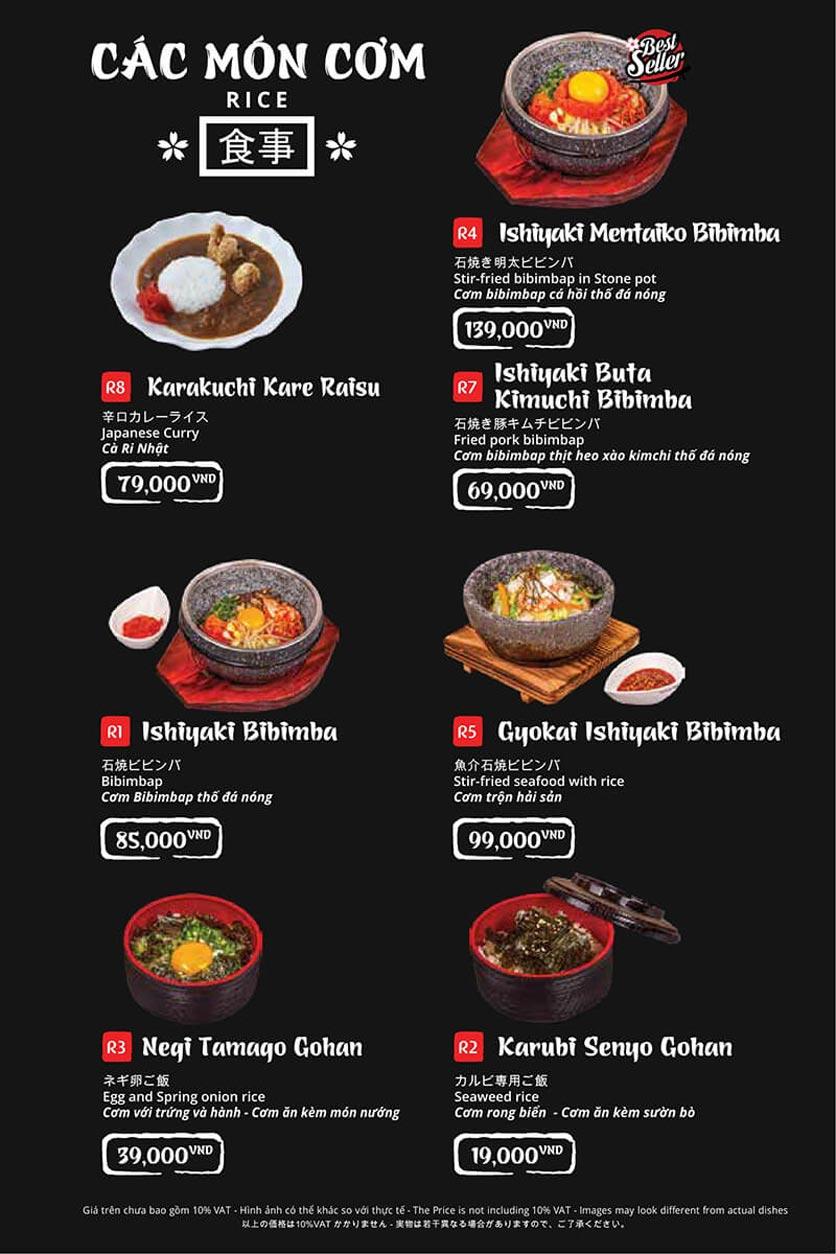 Menu Tasaki BBQ - Trần Thái Tông 33