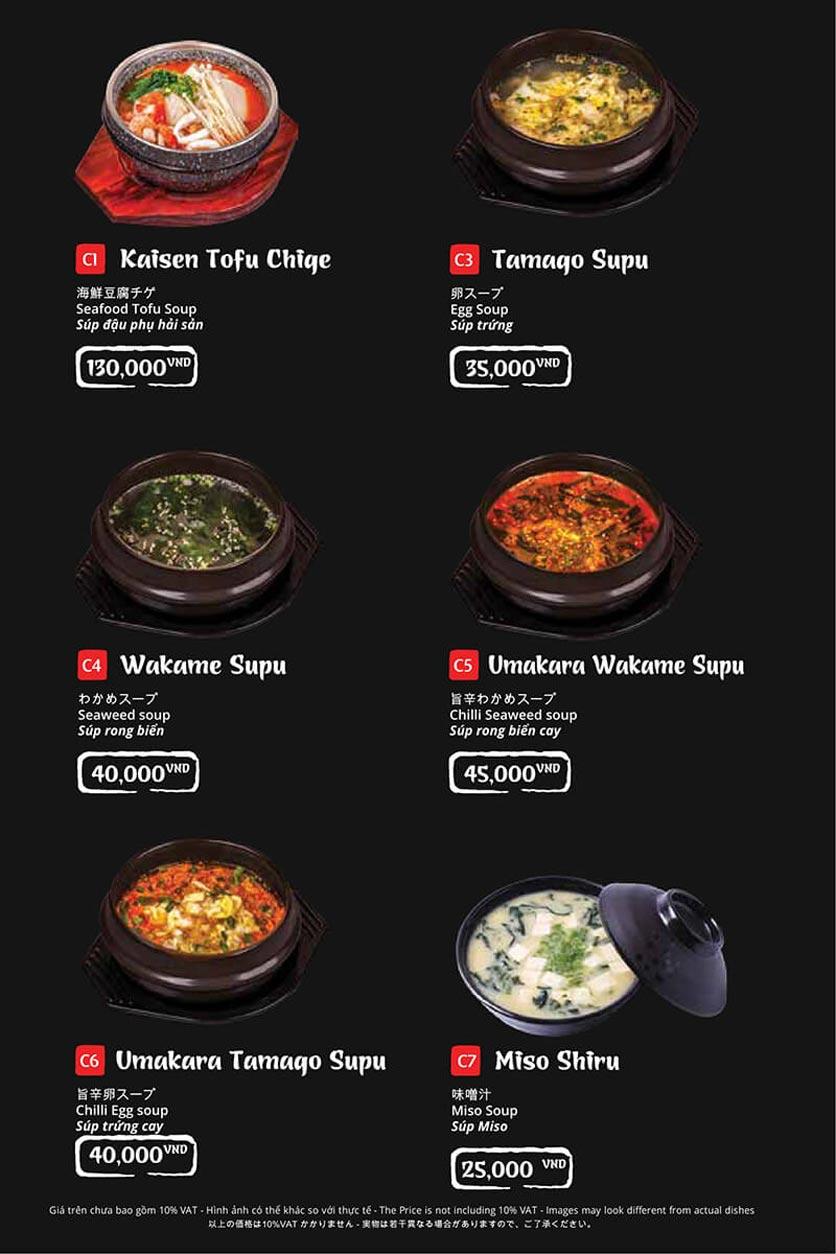 Menu Tasaki BBQ - Trần Thái Tông 38