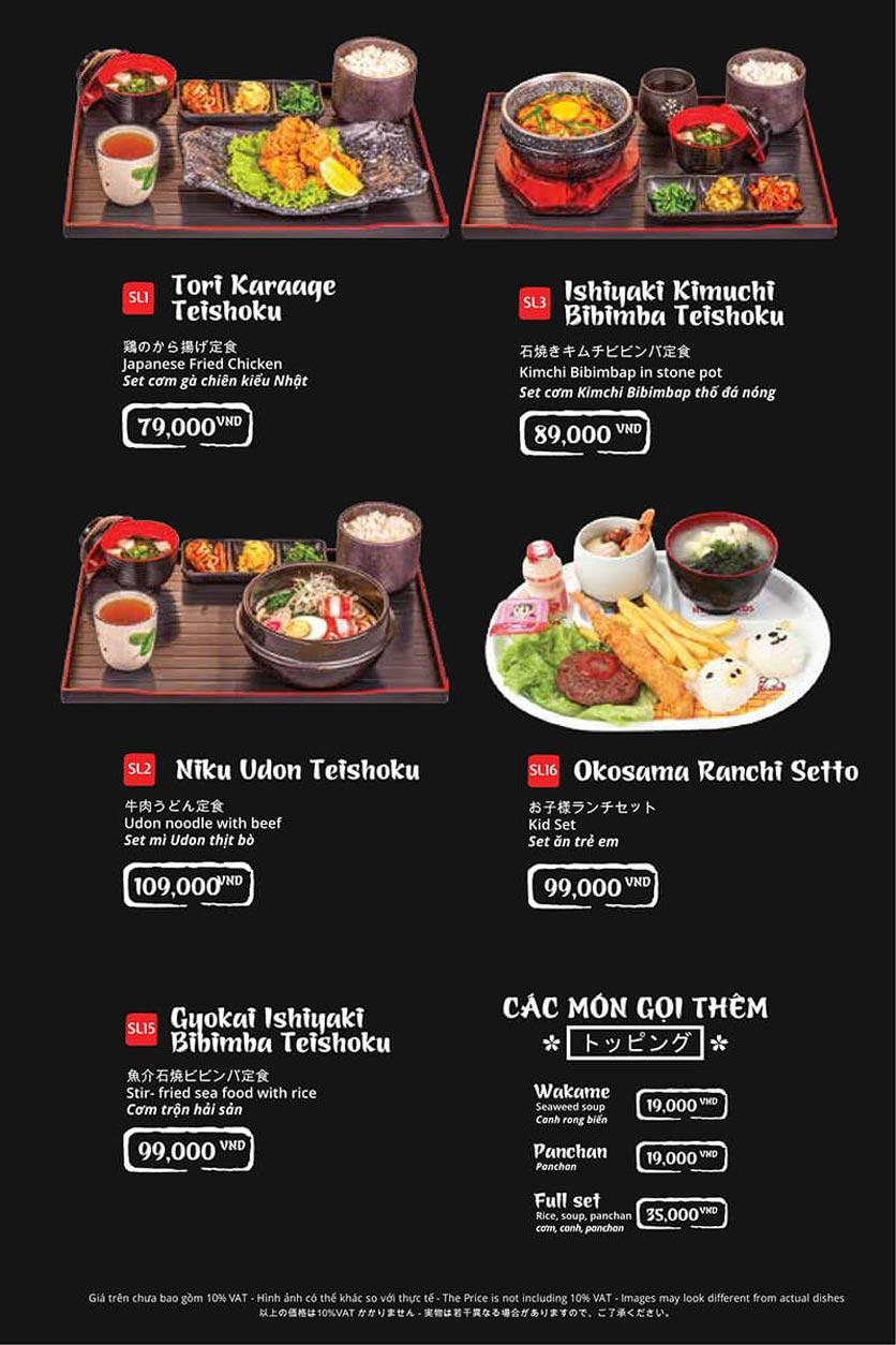 Menu Tasaki BBQ - Trần Thái Tông 45