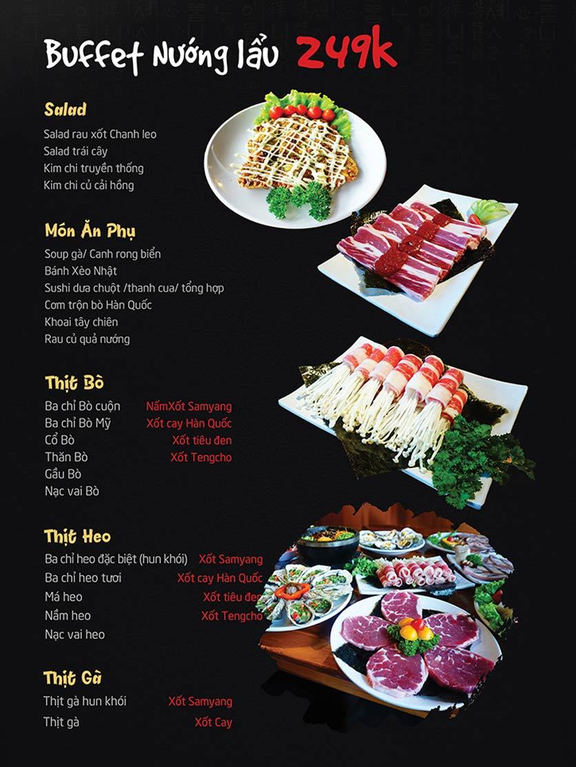 Menu Tengcho BBQ – Linh Đàm 1