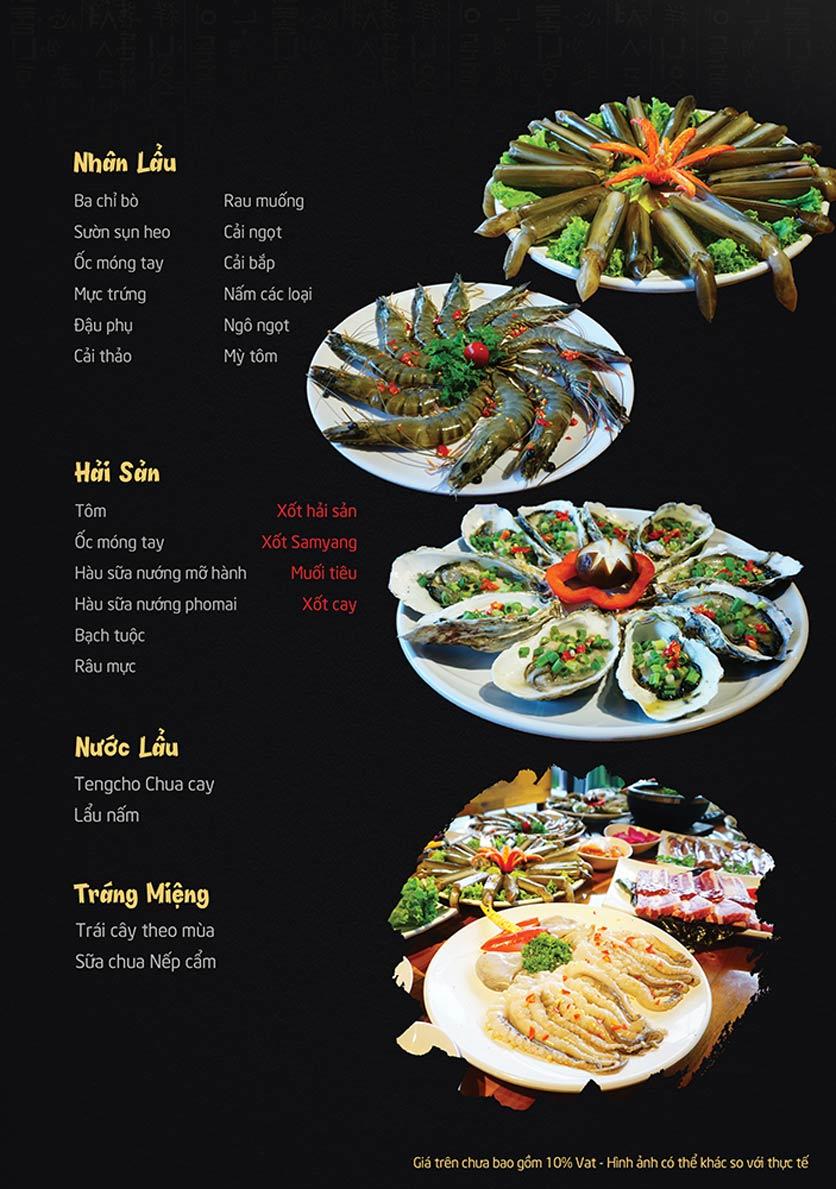 Menu Tengcho BBQ – Linh Đàm 2