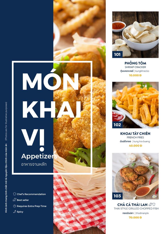 Menu Thai Market - Trần Quốc Toản 1