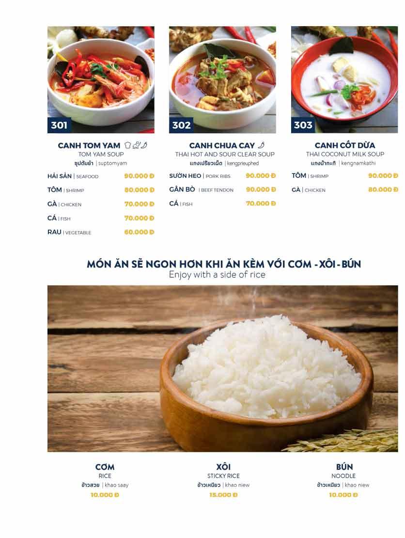 Menu Thai Market - Trần Quốc Toản 6