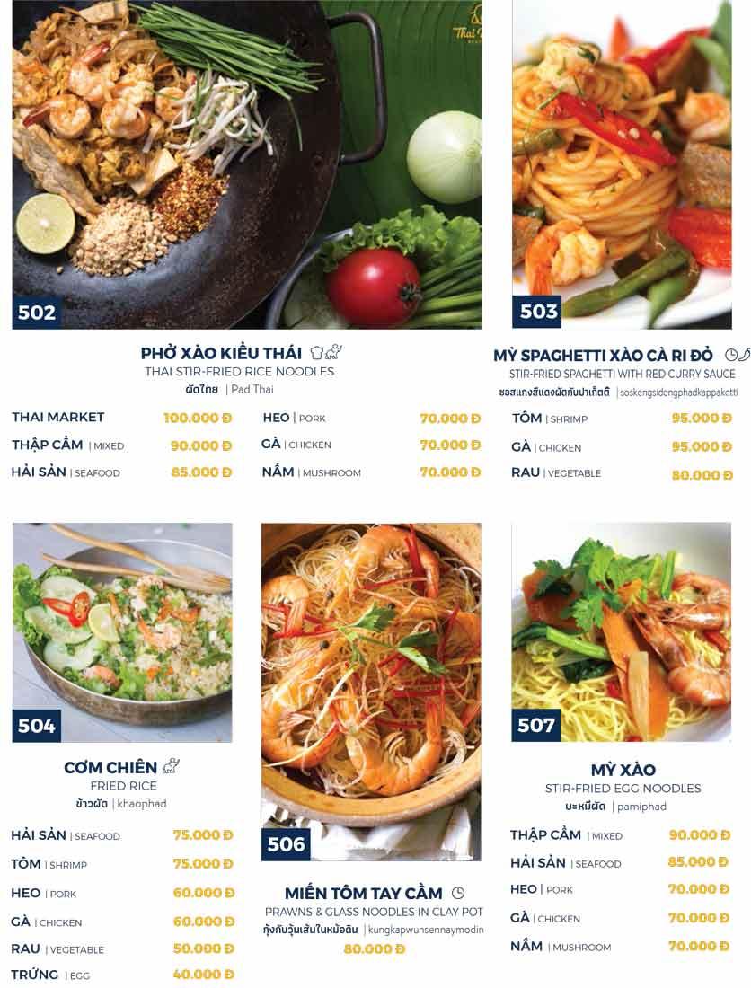 Menu Thai Market - Trần Quốc Toản 10