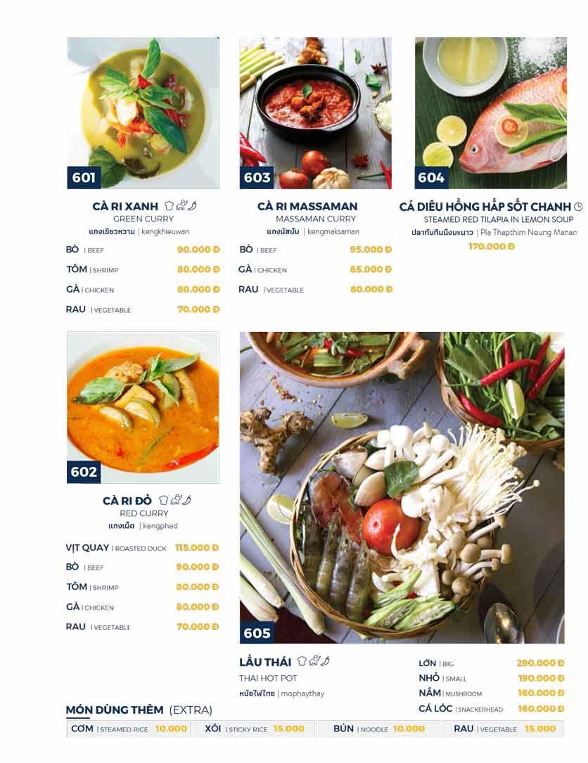 Menu Thai Market - Trần Quốc Toản 12