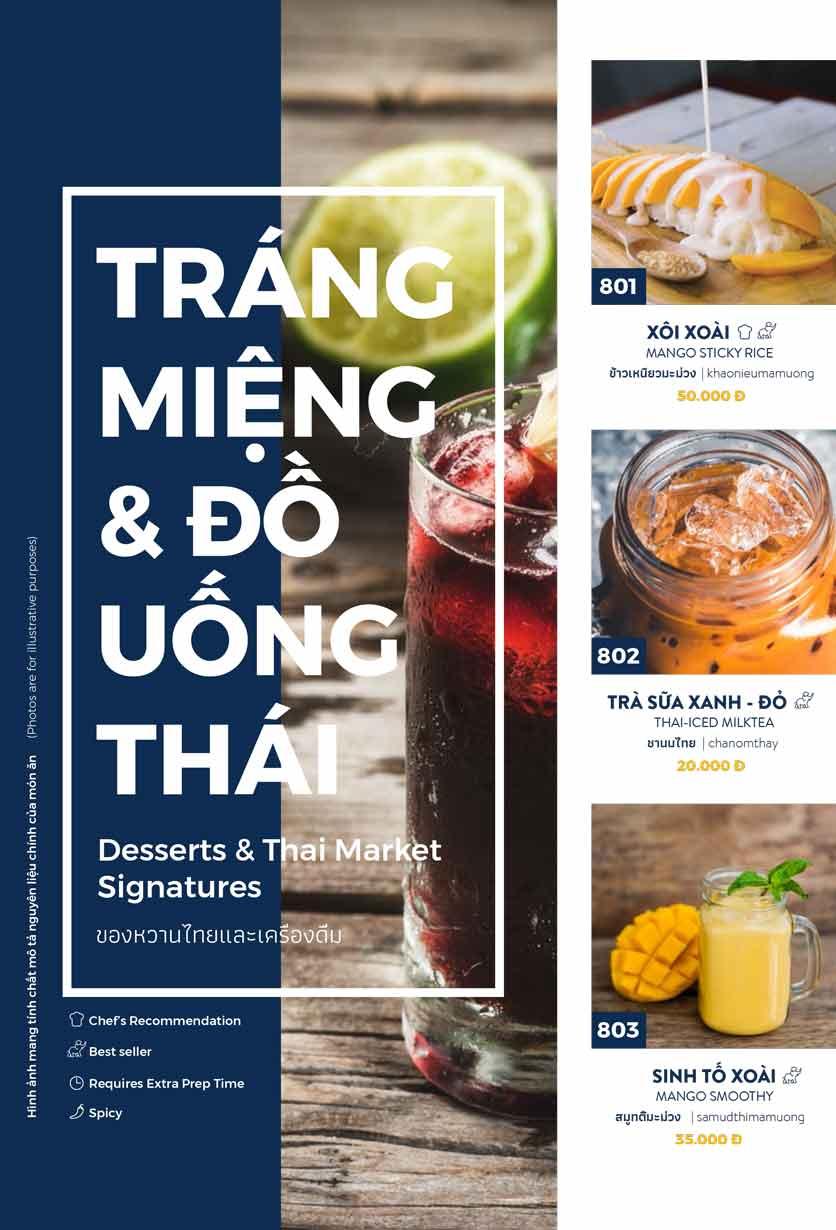 Menu Thai Market - Trần Quốc Toản 15