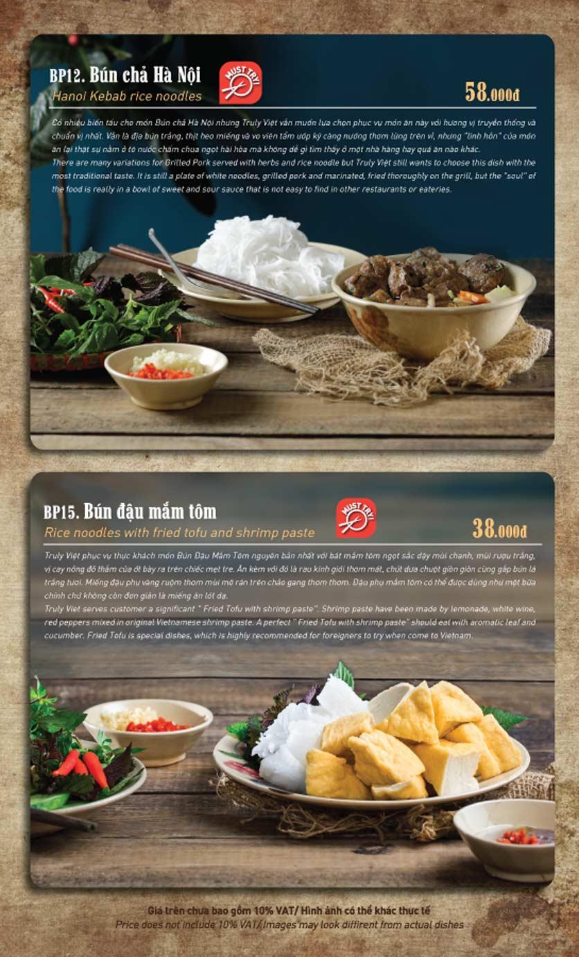 Menu Truly Việt - Duy Tân 4
