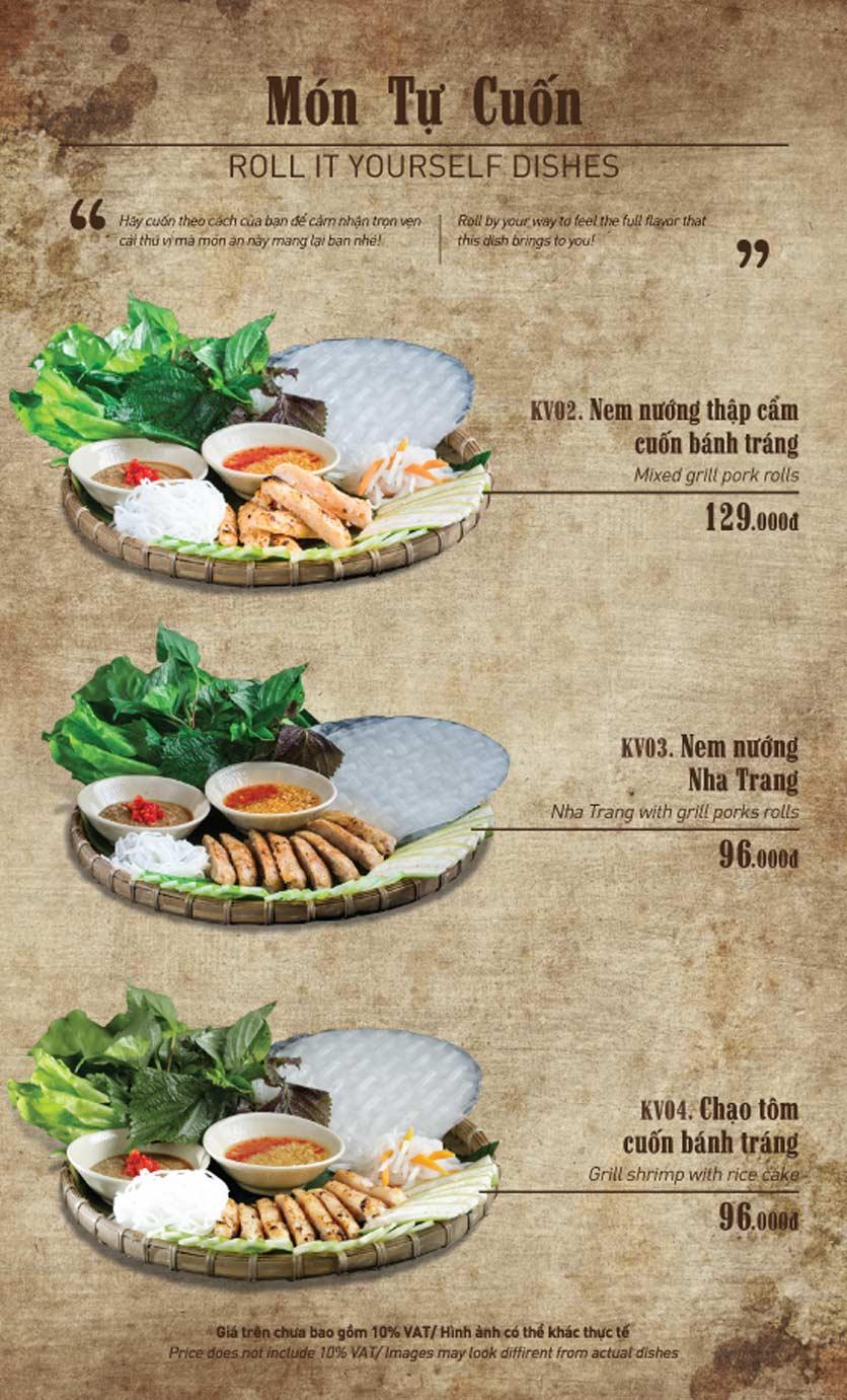 Menu Truly Việt - Duy Tân 5