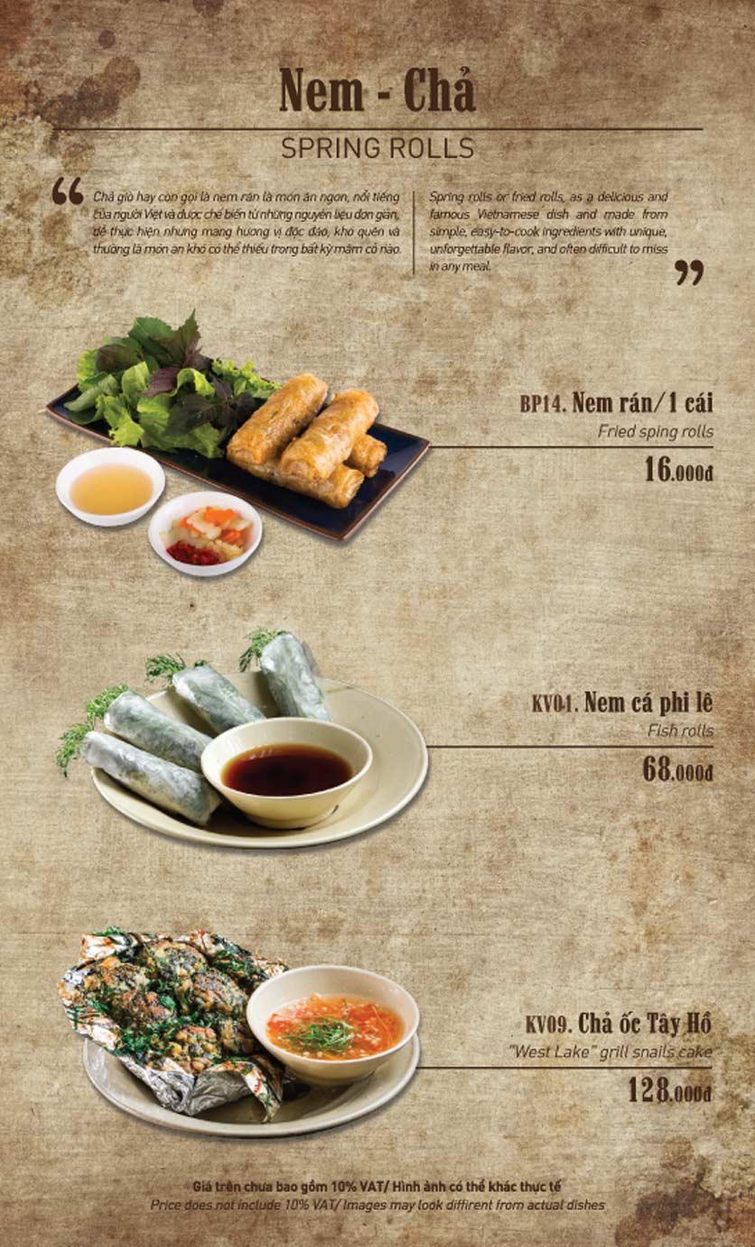 Menu Truly Việt - Duy Tân 6
