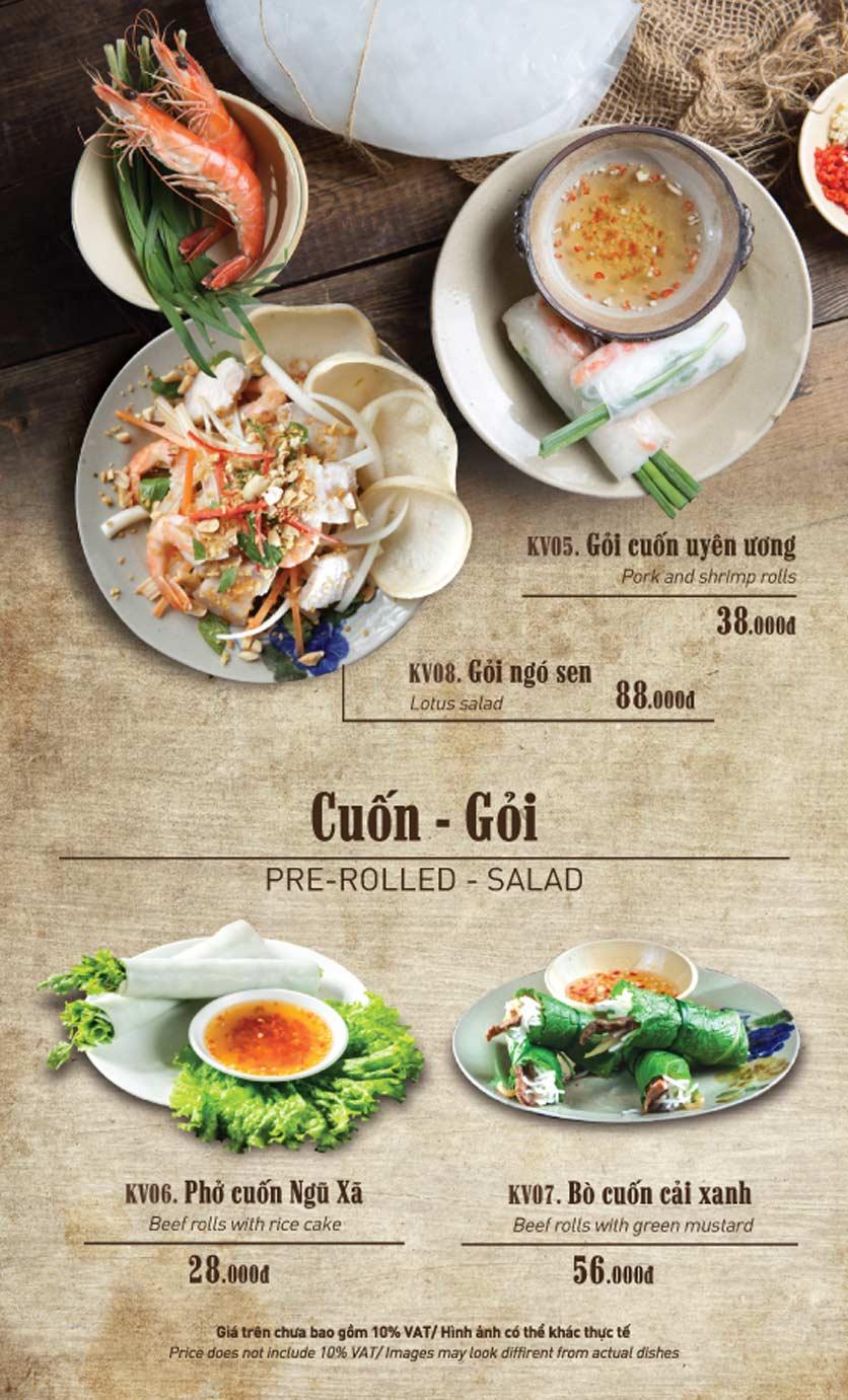 Menu Truly Việt - Duy Tân 7