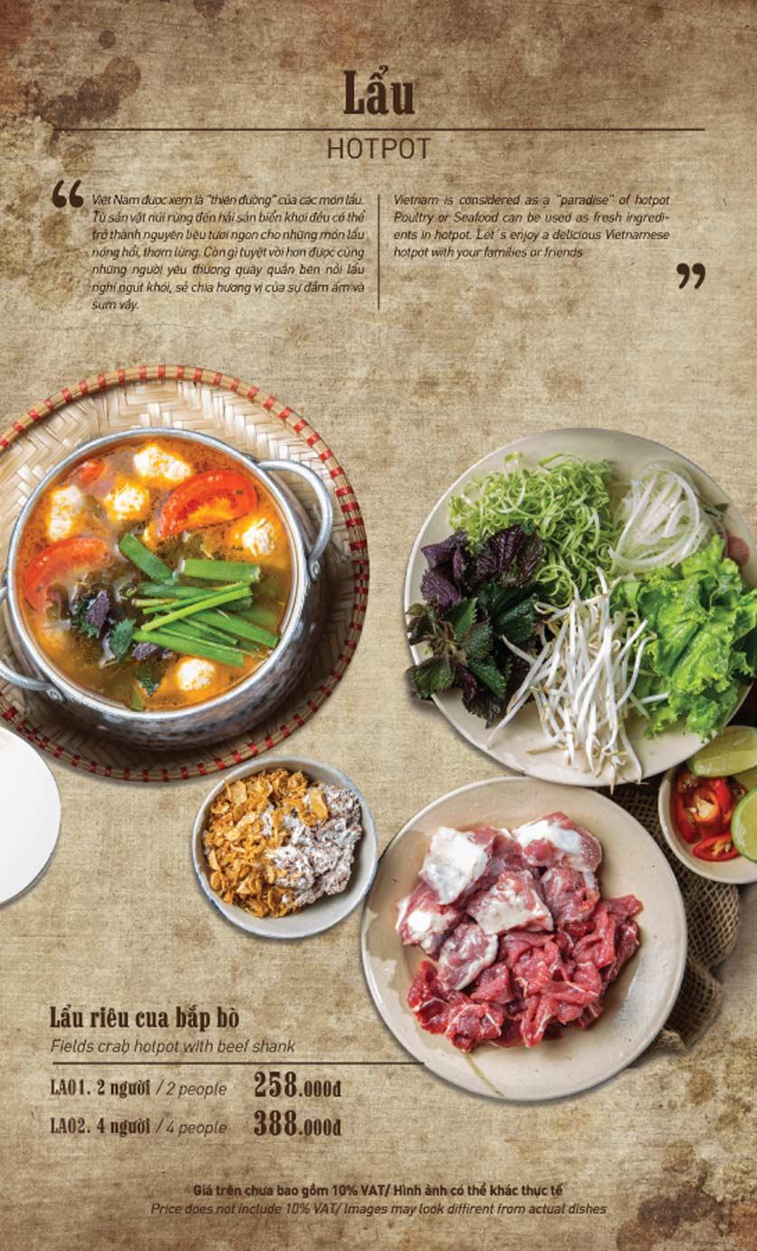 Menu Truly Việt - Duy Tân 9