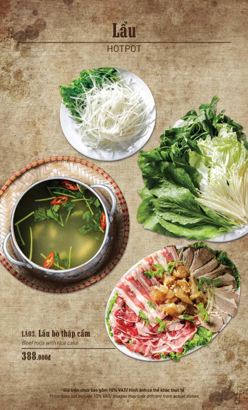 Menu Truly Việt - Duy Tân 10