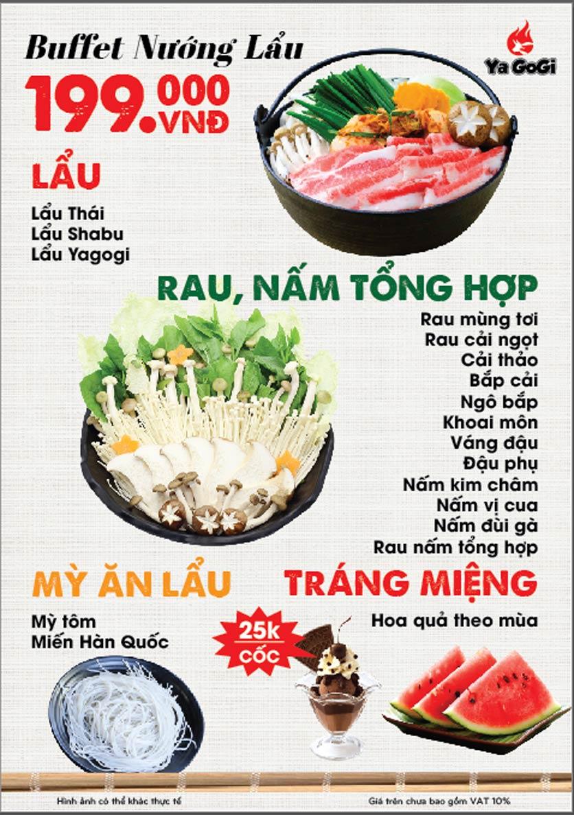 Menu Ya Gogi - Dương Nội 10