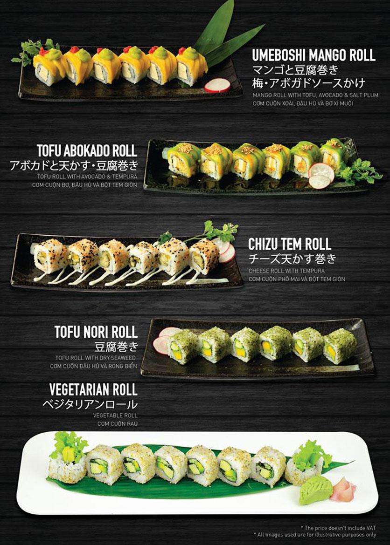 Menu Yen Sushi & Sake Pub – Nguyễn Đức Cảnh 11