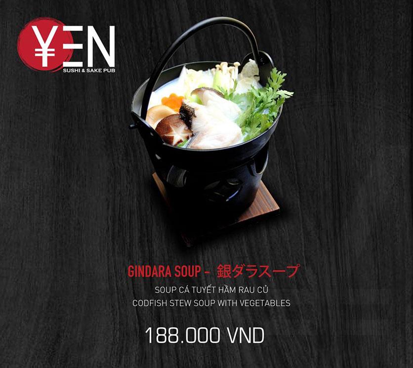 Menu Yen Sushi & Sake Pub – Nguyễn Đức Cảnh 16