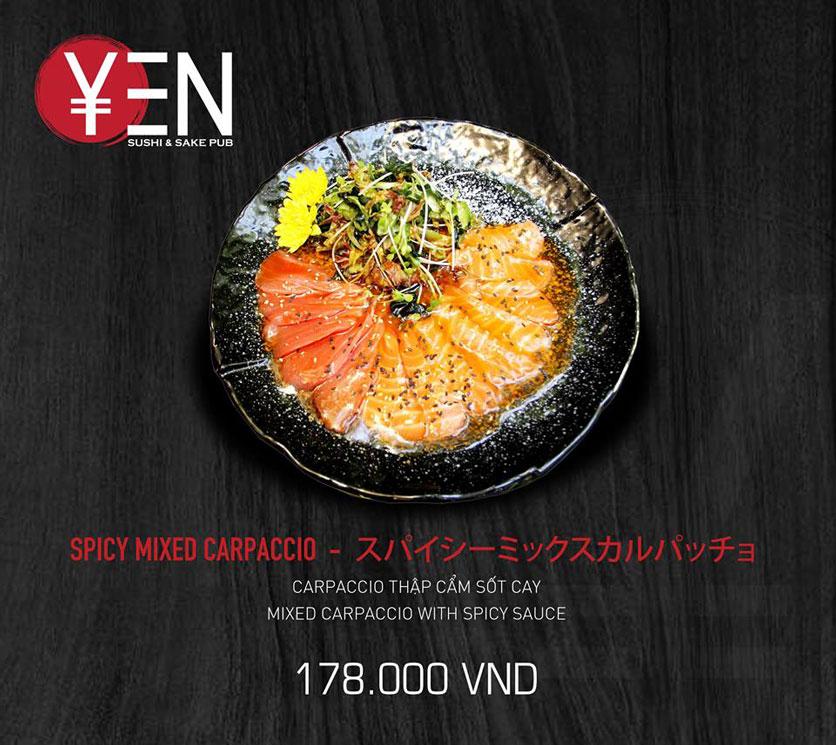 Menu Yen Sushi & Sake Pub – Nguyễn Đức Cảnh 25