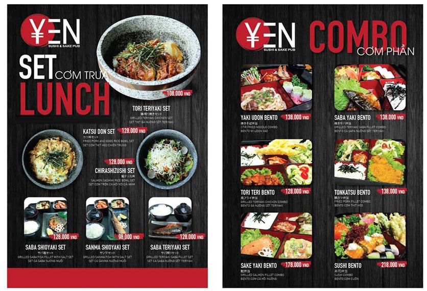 Menu Yen Sushi & Sake Pub – Nguyễn Đức Cảnh 1