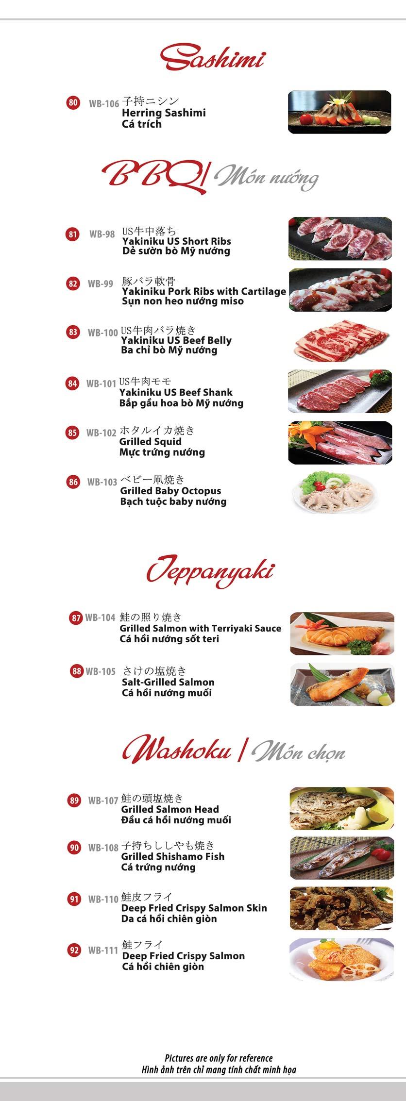 Menu Azuma Japanese Restaurant - Ngọc Khánh 14