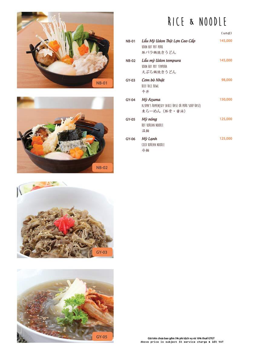 Menu Azuma Japanese Restaurant - Ngọc Khánh 22