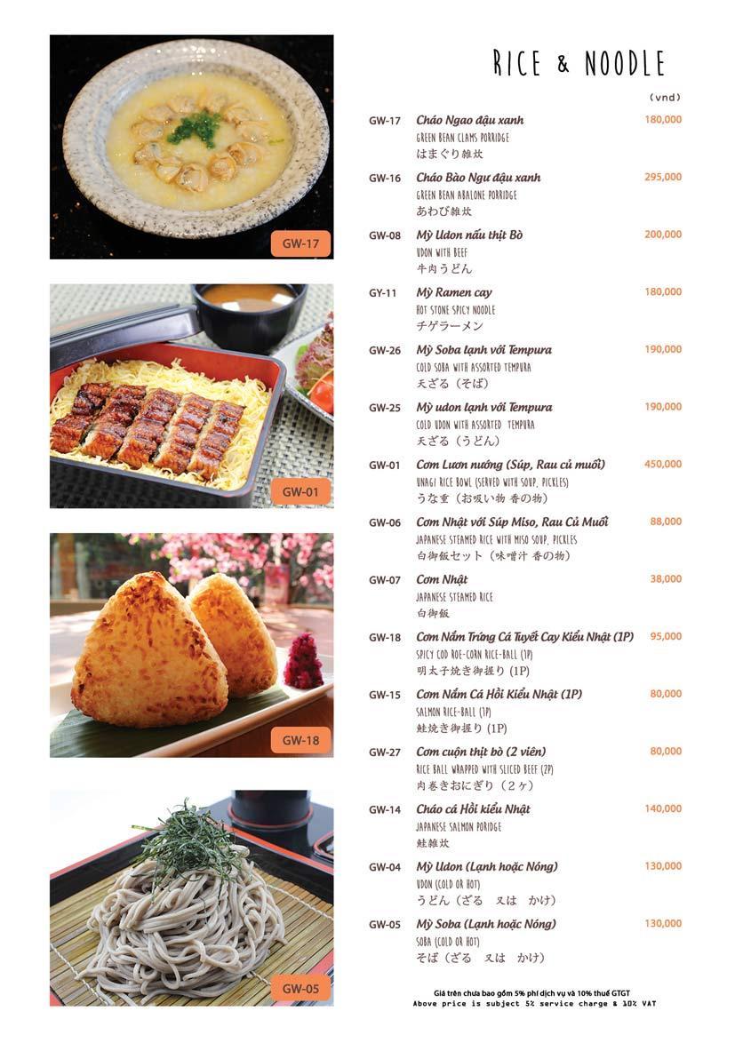Menu Azuma Japanese Restaurant - Ngọc Khánh 23