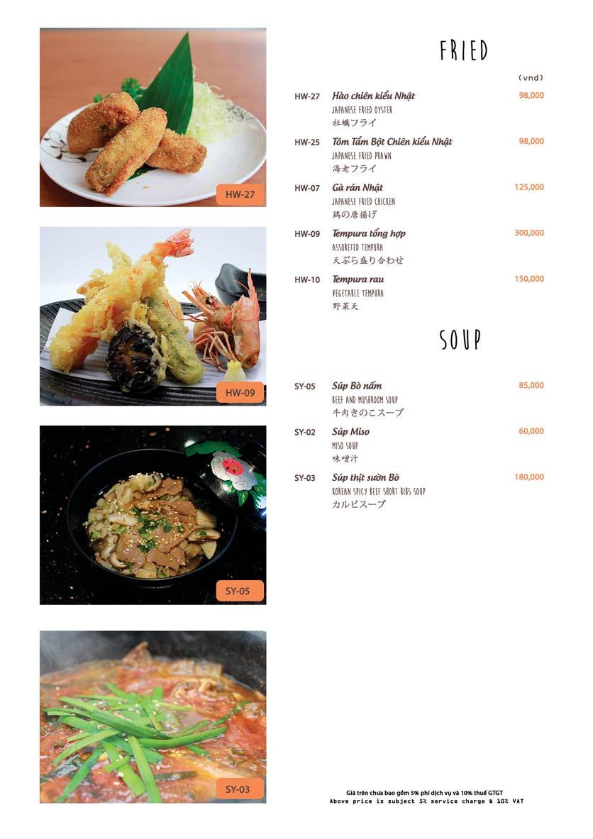 Menu Azuma Japanese Restaurant - Ngọc Khánh 24