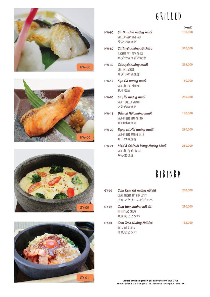 Menu Azuma Japanese Restaurant - Ngọc Khánh 25