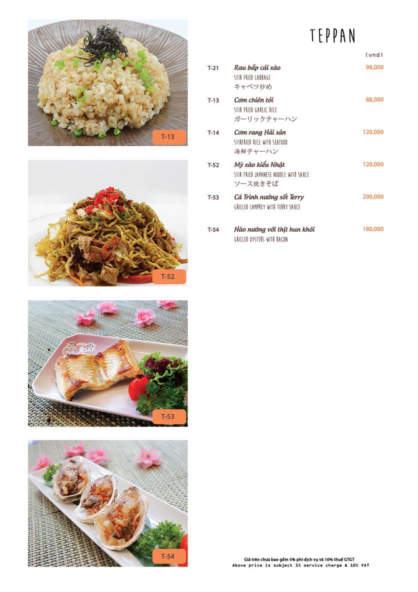 Menu Azuma Japanese Restaurant - Ngọc Khánh 28