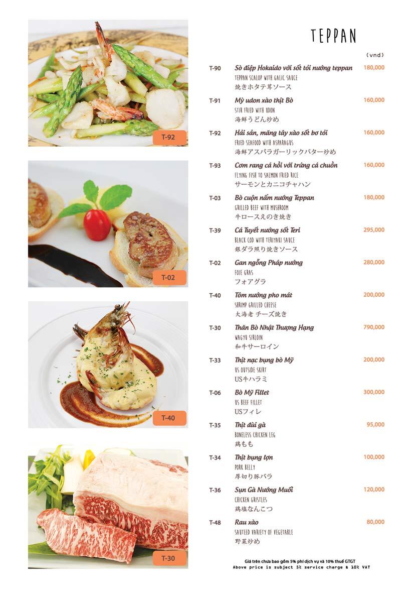 Menu Azuma Japanese Restaurant - Ngọc Khánh 29