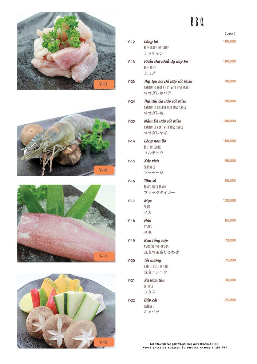 Menu Azuma Japanese Restaurant - Ngọc Khánh 30