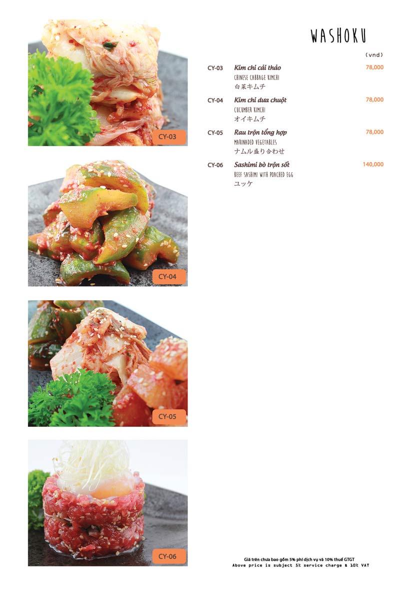 Menu Azuma Japanese Restaurant - Ngọc Khánh 33