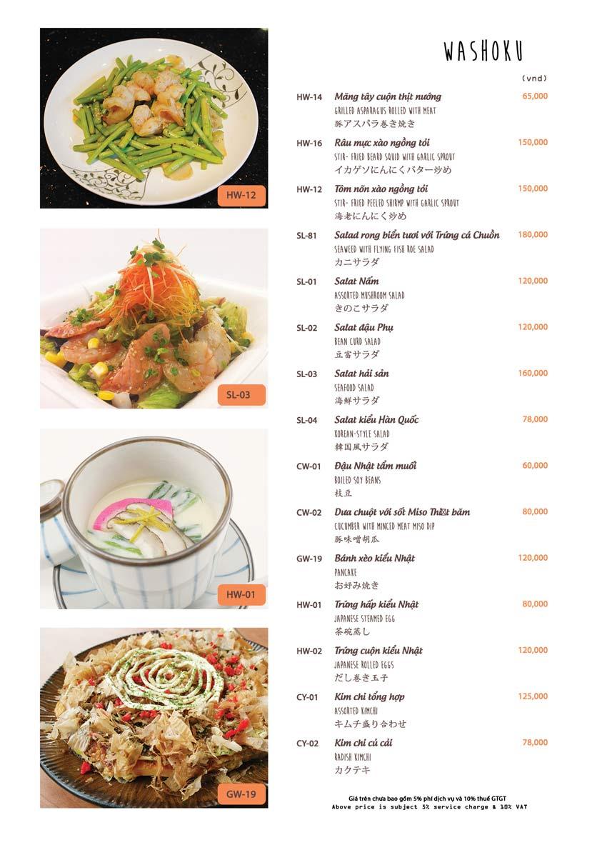 Menu Azuma Japanese Restaurant - Ngọc Khánh 34