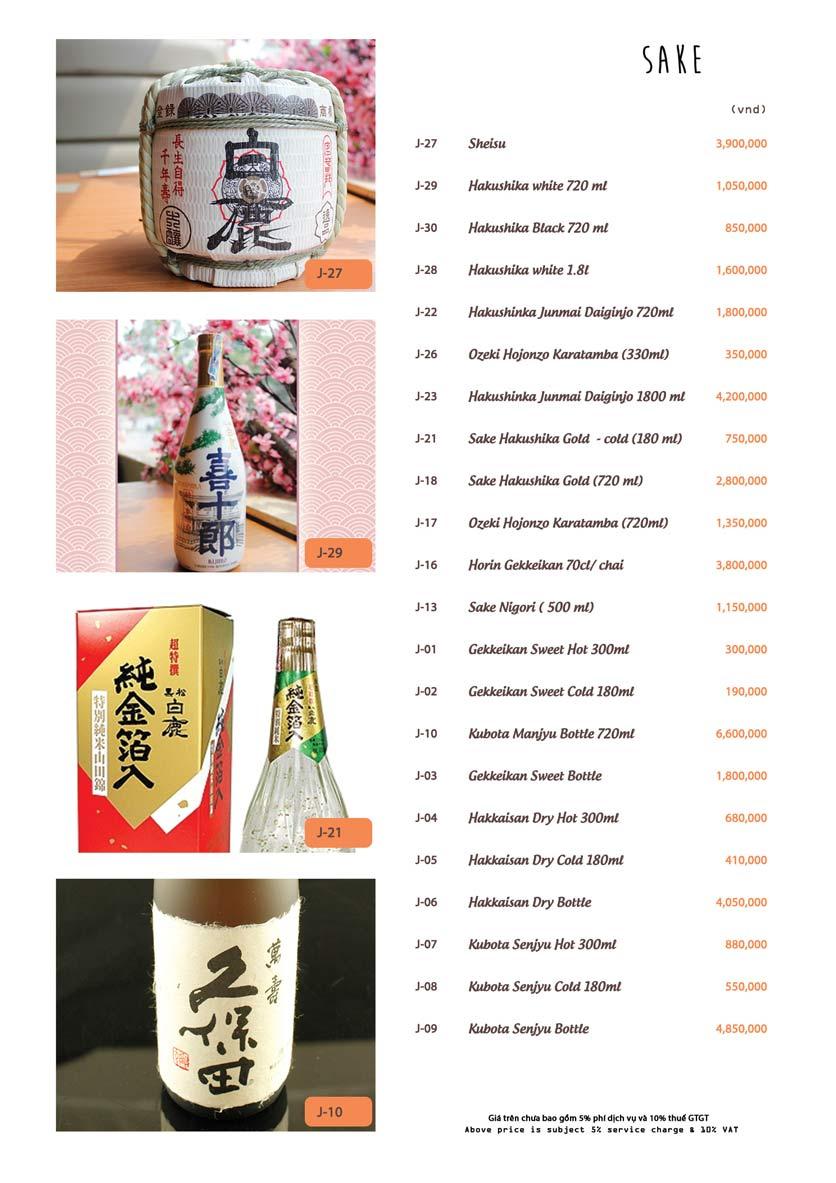 Menu Azuma Japanese Restaurant - Ngọc Khánh 40