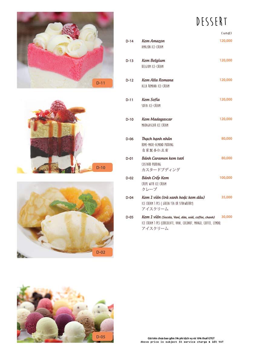 Menu Azuma Japanese Restaurant - Ngọc Khánh 41