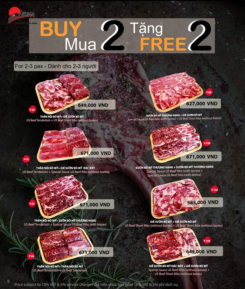 Menu Azuma Japanese Restaurant - Ngọc Khánh 3
