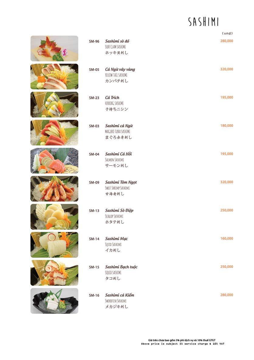 Menu Azuma Japanese Restaurant - Ngọc Khánh 19