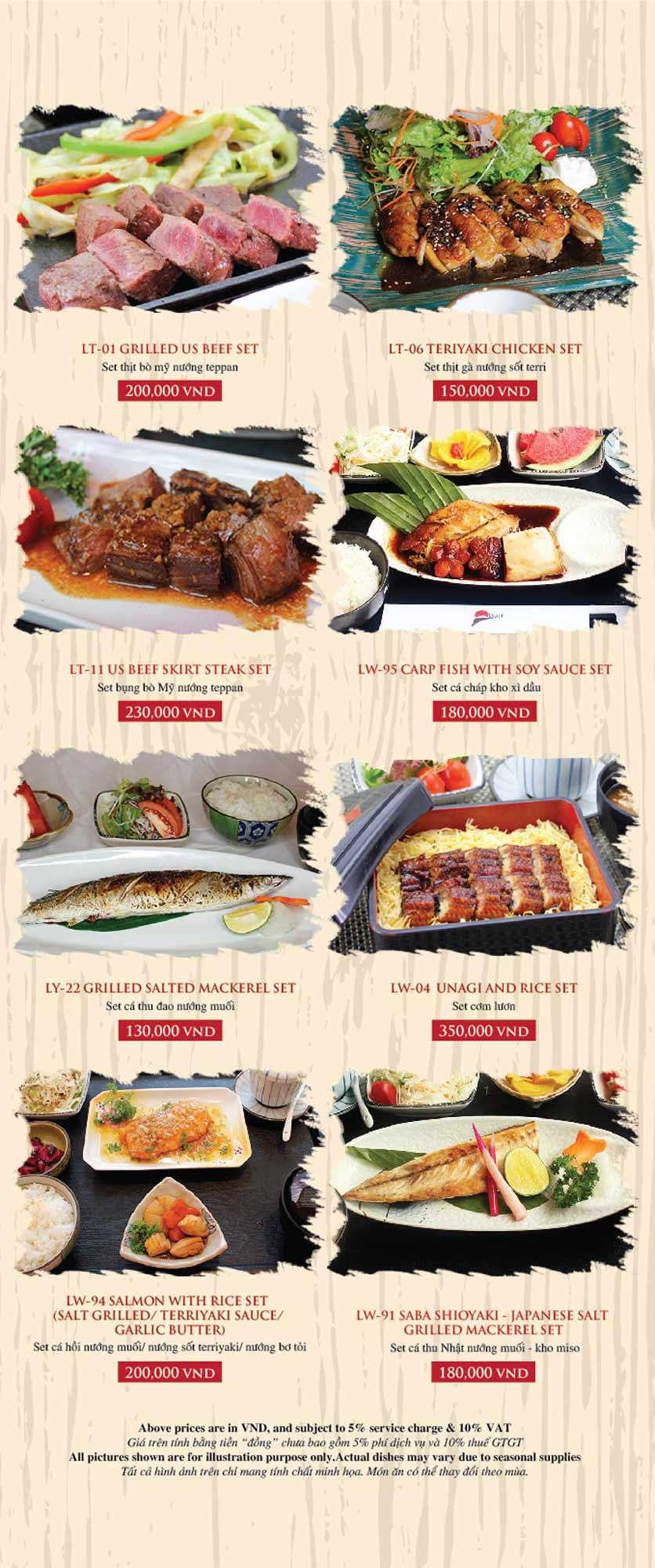 Menu Azuma Japanese Restaurant - Ngọc Khánh 44