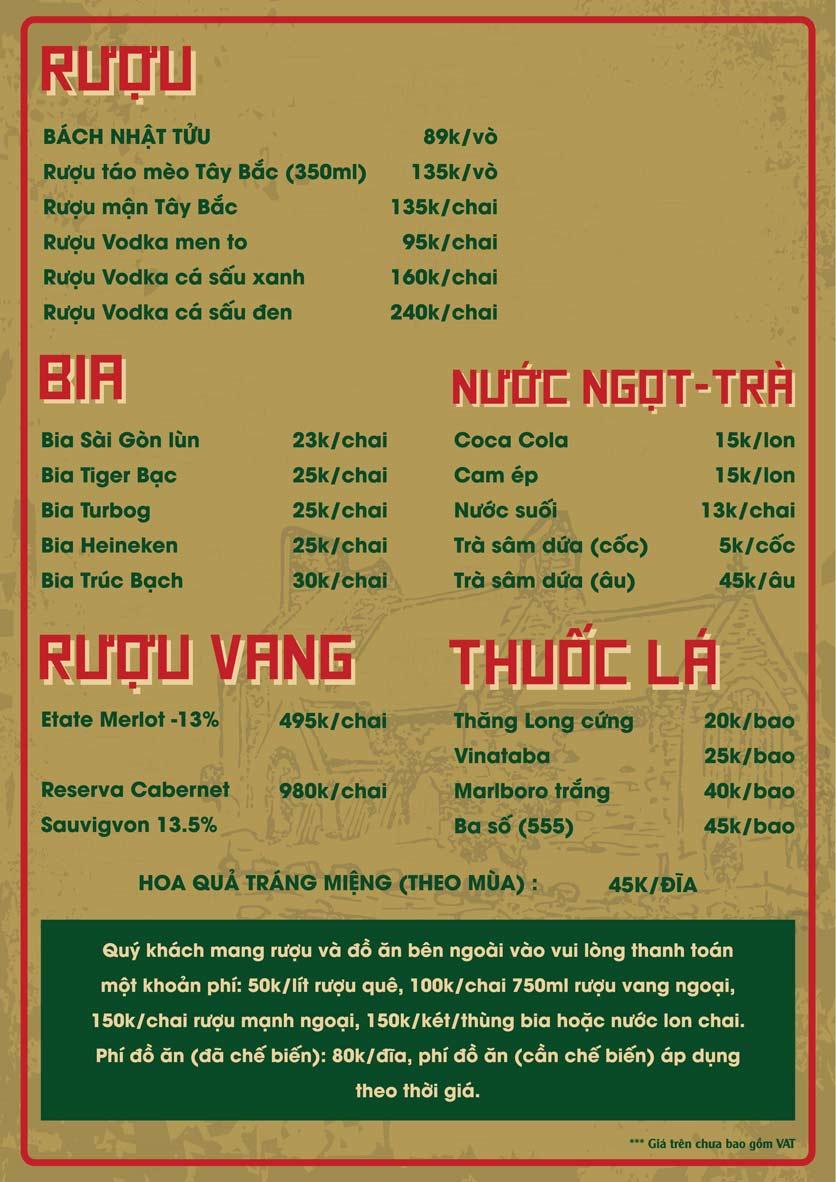 Menu Bò Tơ Quán Mộc - Thái Thịnh 7