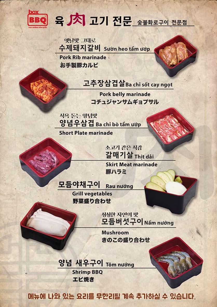 Menu Box BBQ – Nguyễn Thị Thập 12