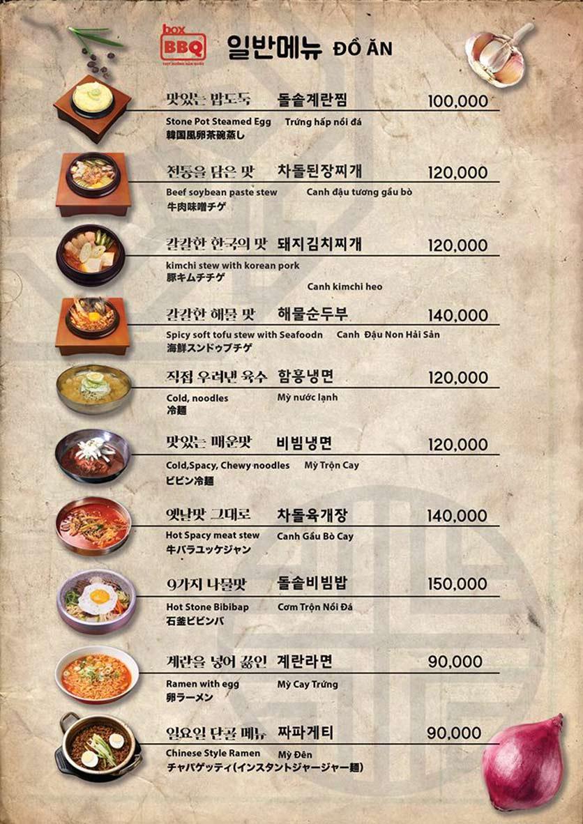 Menu Box BBQ – Nguyễn Thị Thập 17