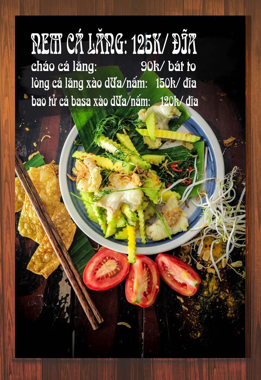 Menu Chaka Lã Vọng An Bình - Phạm Văn Đồng  4