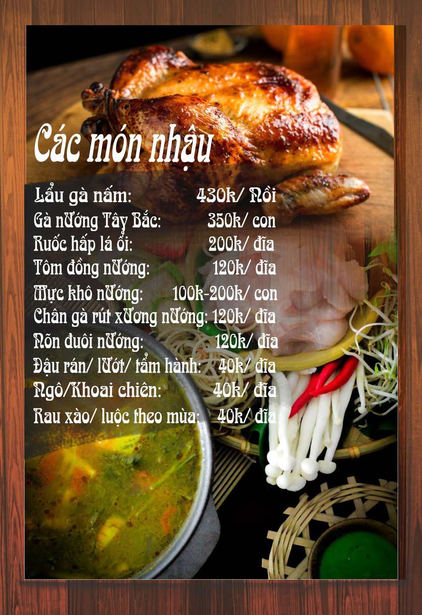 Menu Chaka Lã Vọng An Bình - Phạm Văn Đồng  5