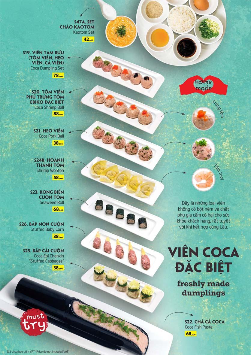 Menu Coca Suki - Parkson Tân Sơn Nhất 10