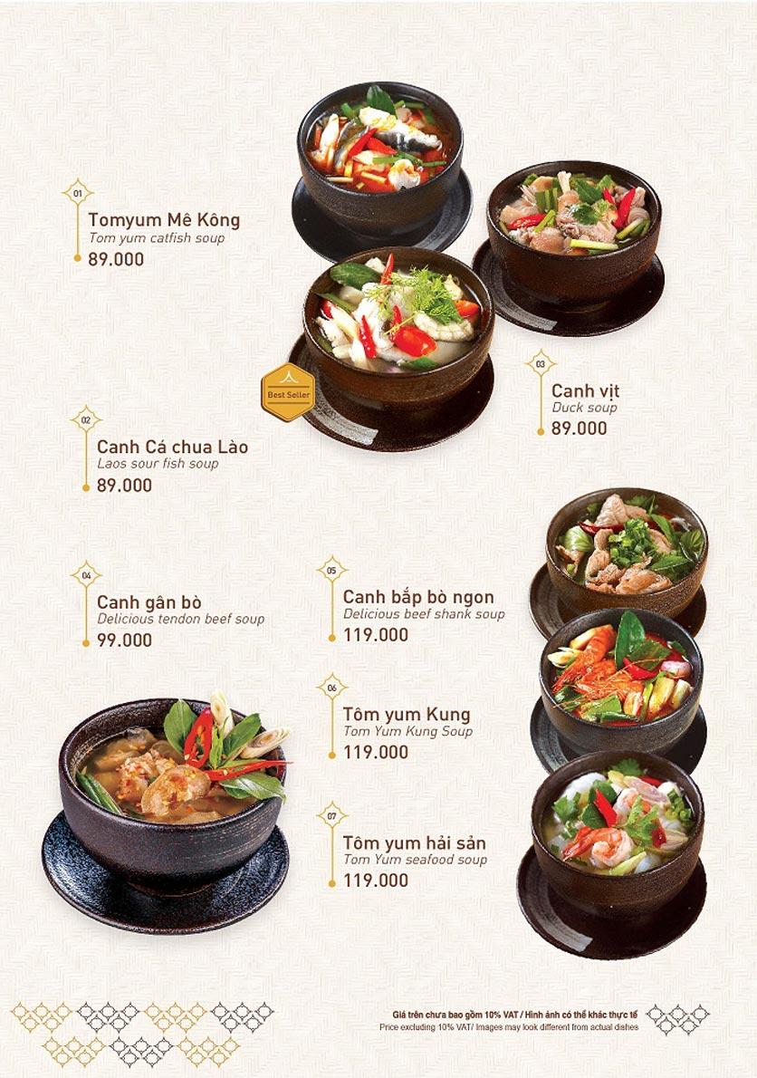 Menu Khao Lao - Duy Tân 1