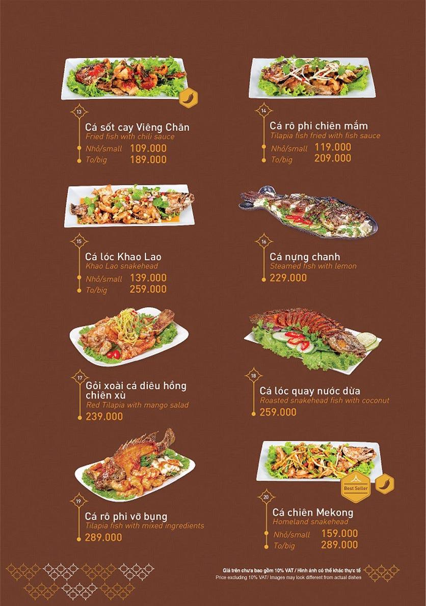 Menu Khao Lao - Duy Tân 10
