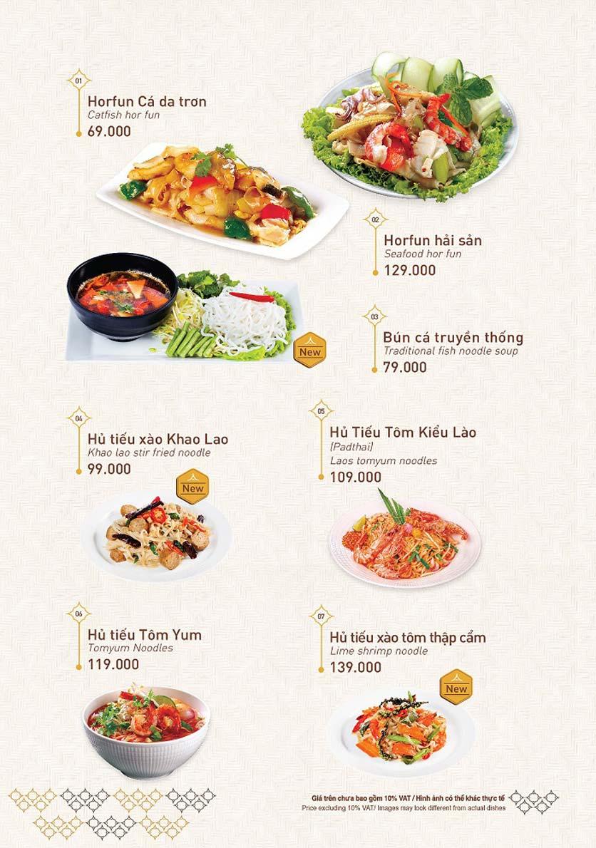 Menu Khao Lao - Duy Tân 16