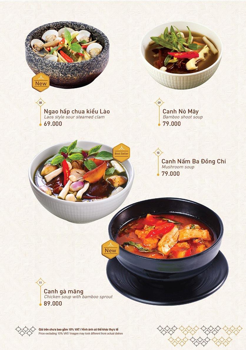 Menu Khao Lao - Duy Tân 2
