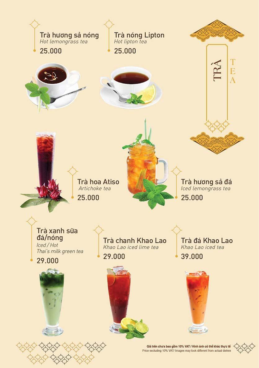 Menu Khao Lao - Duy Tân 23
