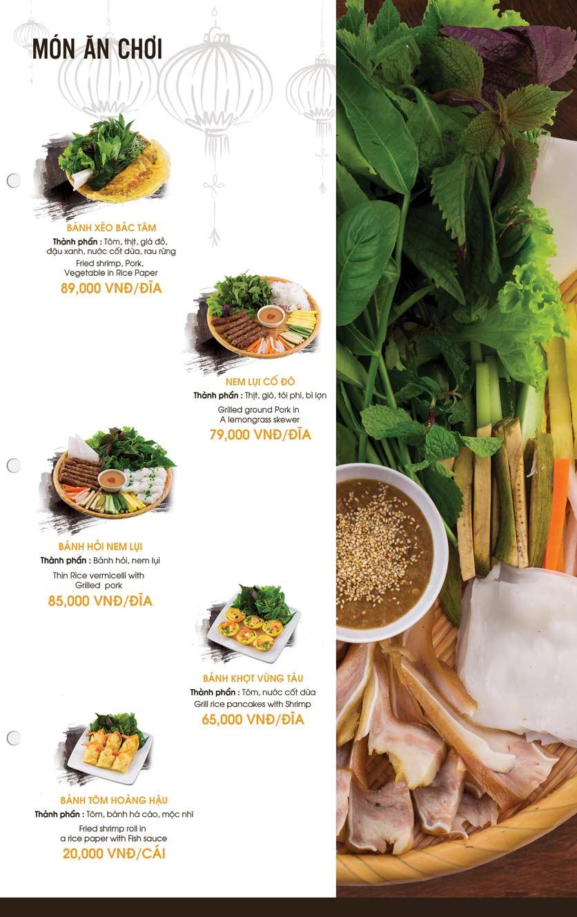Menu Mì Quảng Bếp Tâm - Hàng Bài 5